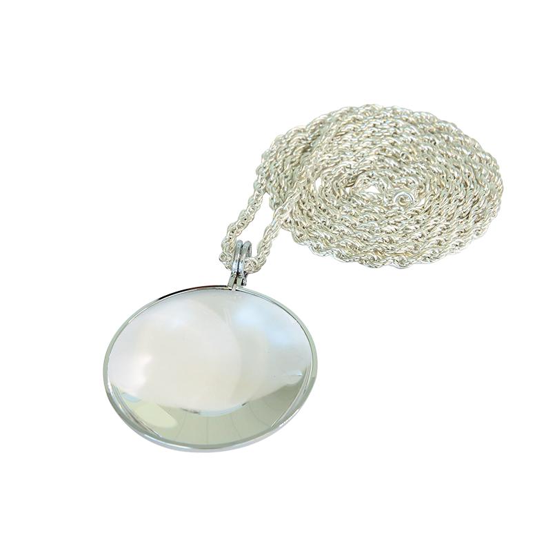 saxon 4×50 Necklace Magnifier (Silver)