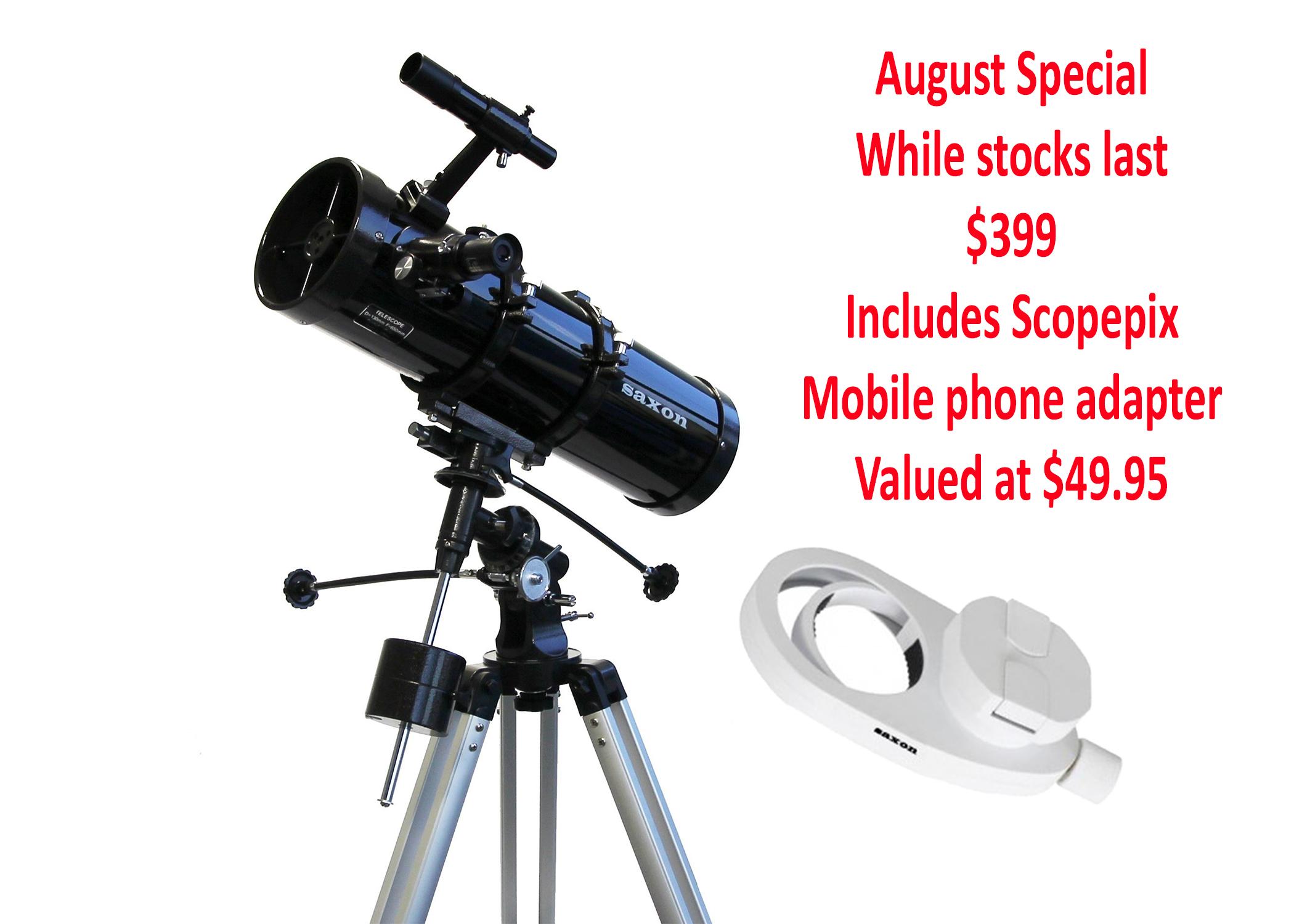 Saxon 13065EQ2 Velocity Reflector Telescope