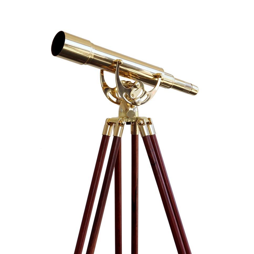 saxon 15-45×50 Brass Refractor Zoom Telescope